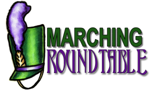 Marching Roundtable Podcast Logo by Tim Hinton with Band Hat
