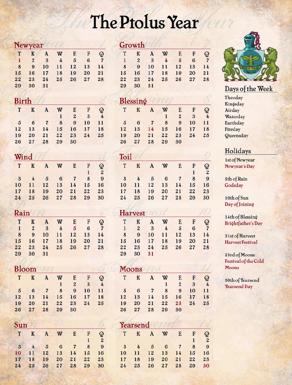 The Ptolus Year Calendar Page 571