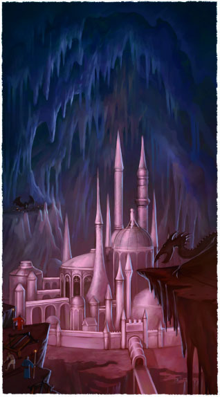 The Dreaming City of Dreta Phantas city of Elder Elves in the Dark Elf Caverns Drow was once Whitewind coast Moonsilver Forest Ptolus