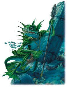 Sahuagin Monster in Ptolus Adventure Fought in Bay