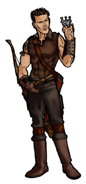 Belie Ekik Portrait Rogue in Pathfinder Ptolus Campaign City by the Spire