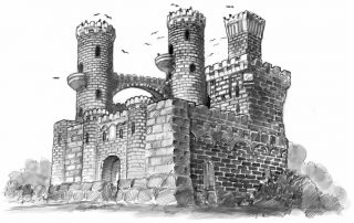 Pythoness House Castle Keep in Oldtown on Toner Street Night of Dissolution Adventure Module in Ptolus the City by the Spire