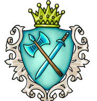 Noble House Khatru Coat of Arms Military Leadership Martial Prowess Axe and Sword Nobles Quarters Ptolus Organization