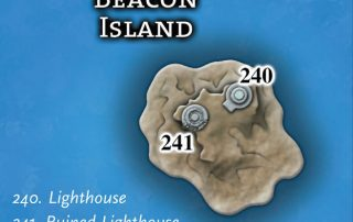 The Secrets of Beacon Island with The New Lighthouse and the Ruined Lighthouse in the Bay of Ptolus City by the Spire