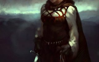 Dora Maycey Female Halfling Wizard Majordomo of the Inverted Pyramid Headquarters above Oldtown in Ptolus