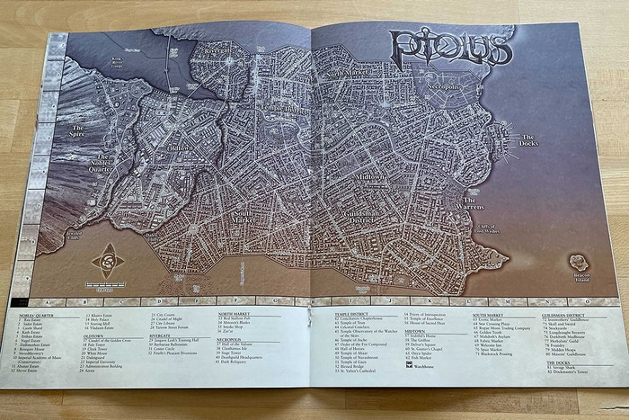 Ptolus Player's Guide to The City By The Spire Map Monte Cook Games 5E DND 5th Edition Dungeons and Dragons and Cypher System