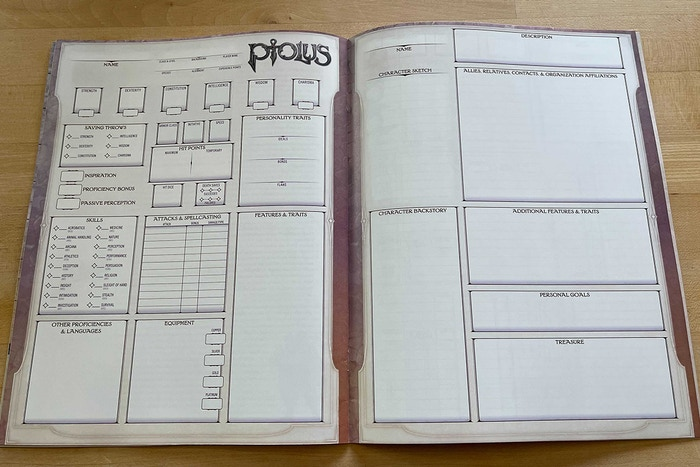 Ptolus Player's Guide to The City By The Spire Player PC Character Sheet Monte Cook Games 5E DND 5th Edition Dungeons and Dragons and Cypher System