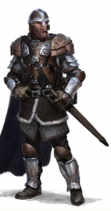 Beck von Tibbitz, Knights of the Veil leader of Ptolus the City by the Spire