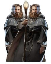 Brit Calomir and Melior Kalen, High Priests of Gaen of Ptolus the City by the Spire