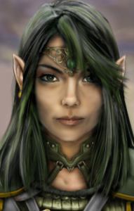 Liessa Vergan, High Priestess of the Celestial Conclave of Ptolus the City by the Spire
